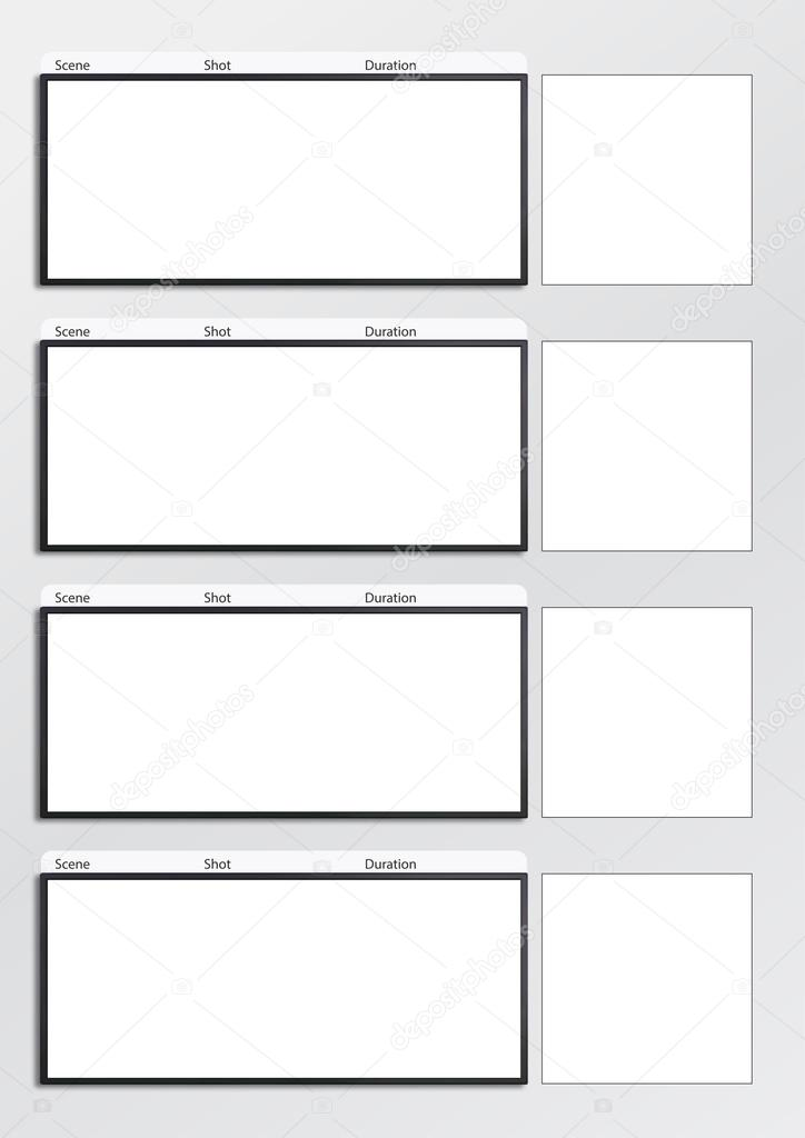 Film Storyboard Template Vertical X4 Stock Photo Realcg 100865086