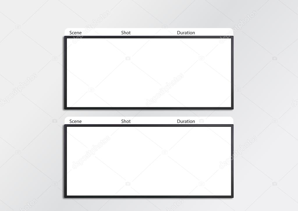 Film Storyboard Template X2 — Stock Photo © Realcg #100865098
