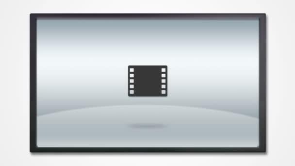 televizní displej s ikona média