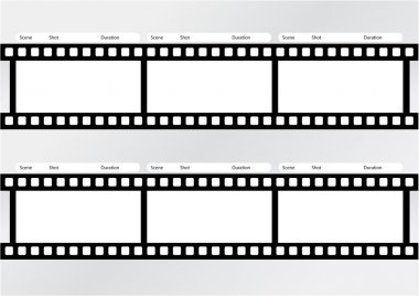 Professional of storyboard film strip template