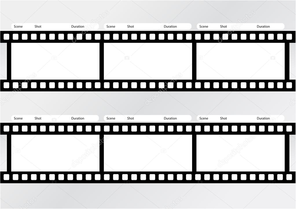 Professional Of Storyboard Film Strip Template Stock Vector