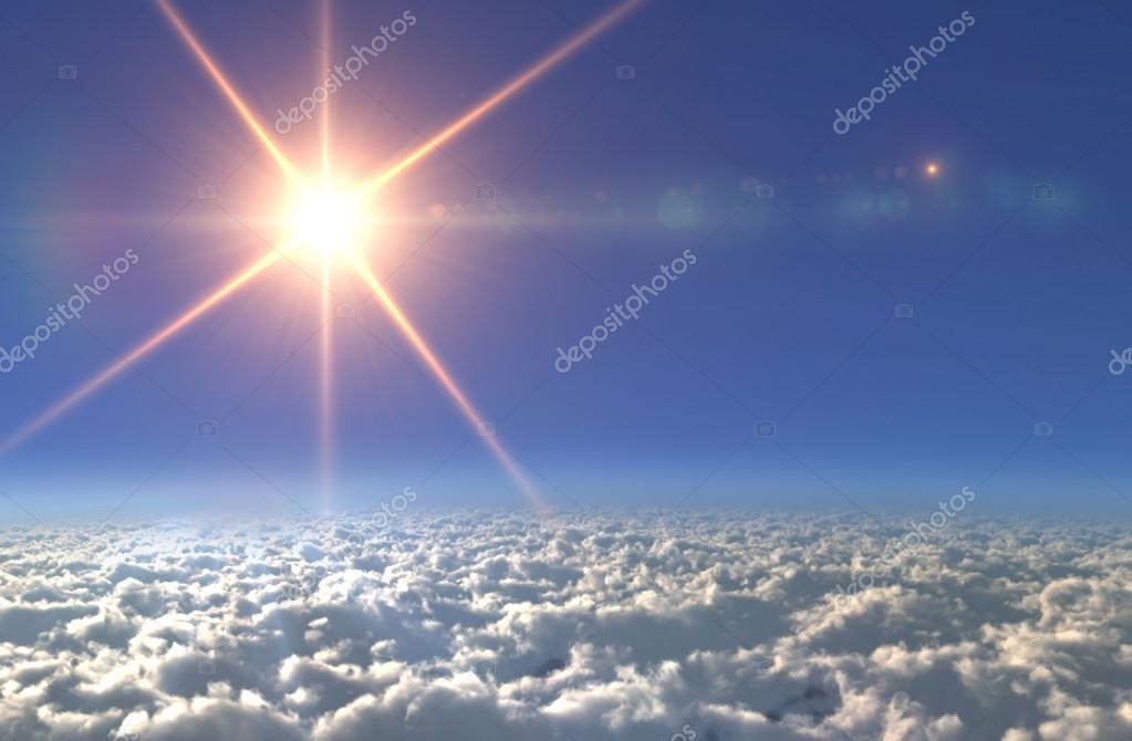 Sun lens flare star cross light day