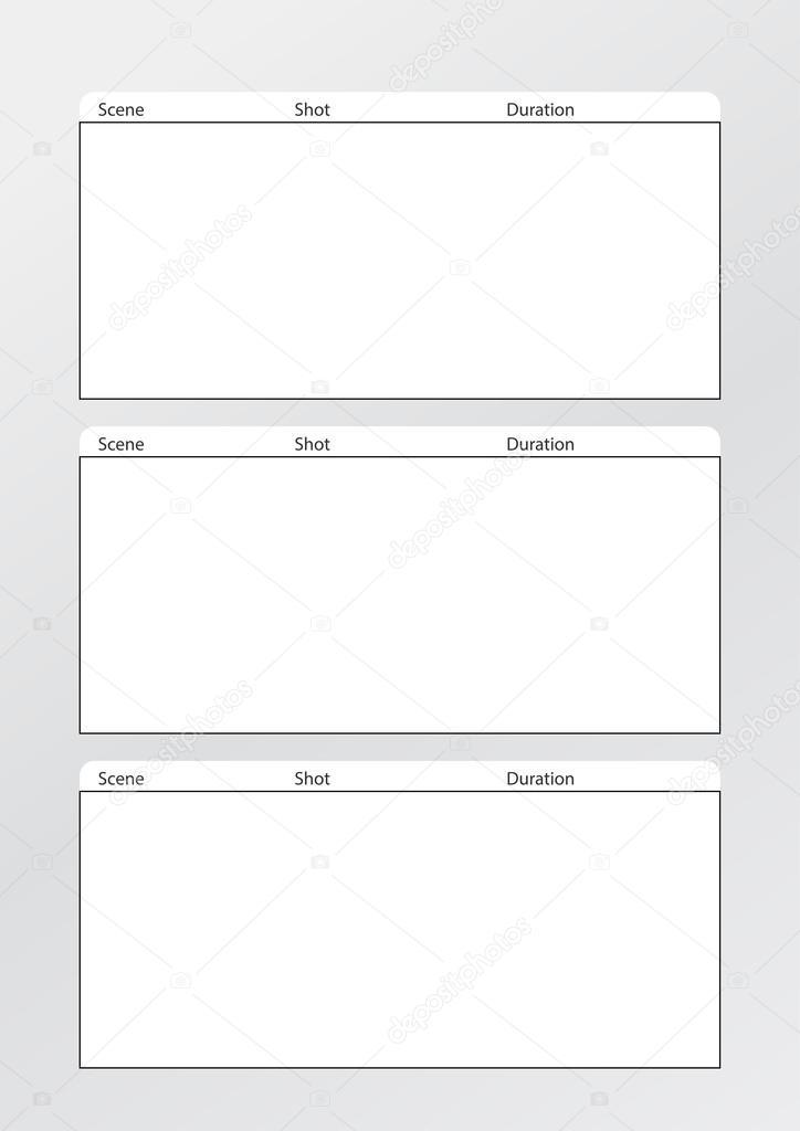 Plantilla De Storyboard De Cine Vertical X 3 — Vector De Stock