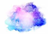 Fotografie Aquarell Freihandhintergrunds blau