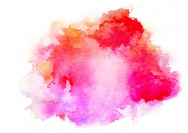 ink pink watercolor background