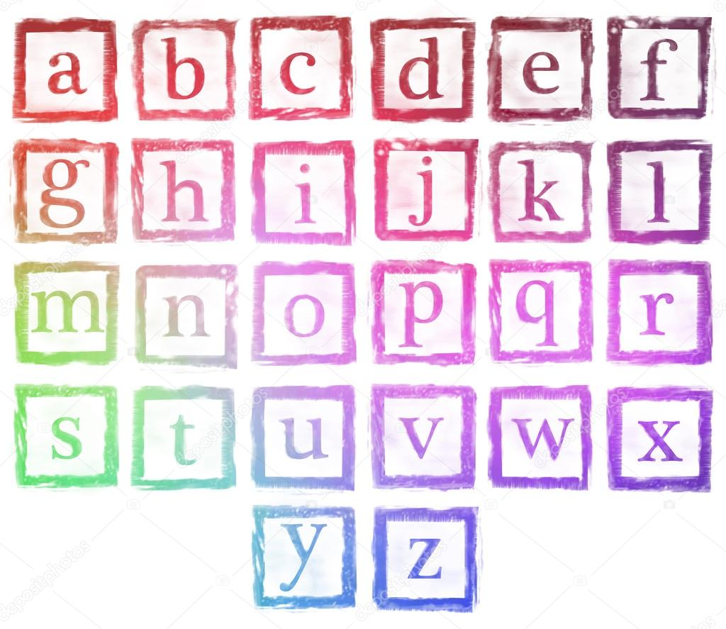 alphabet metal stamp small letters color — Stock Photo © realcg ...