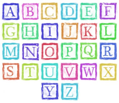 alphabet metal stamp letters single color