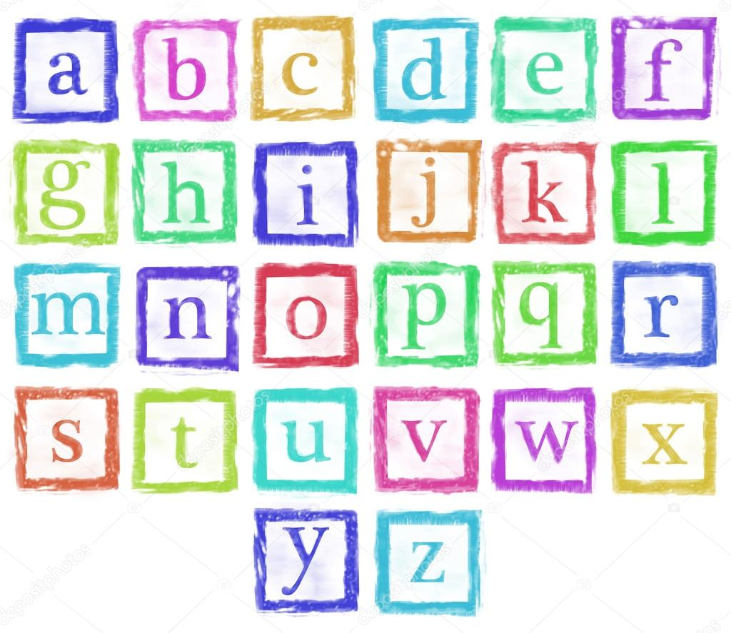Alphabet Photo Letters Alphabet Metal Stamp Small Letters Single Color Stock
