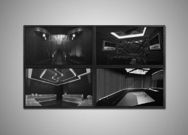 cctv monitor grey tone display for interior