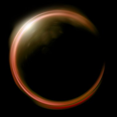 orange Lens ring flares crossing of circle shape