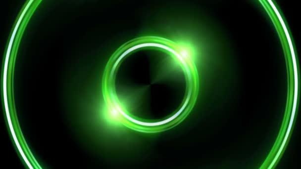 Anello verde lente razzi doppio cerchio Hd