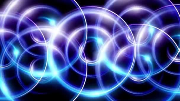 Sovrapposizione degli anelli bagliori blu Hd