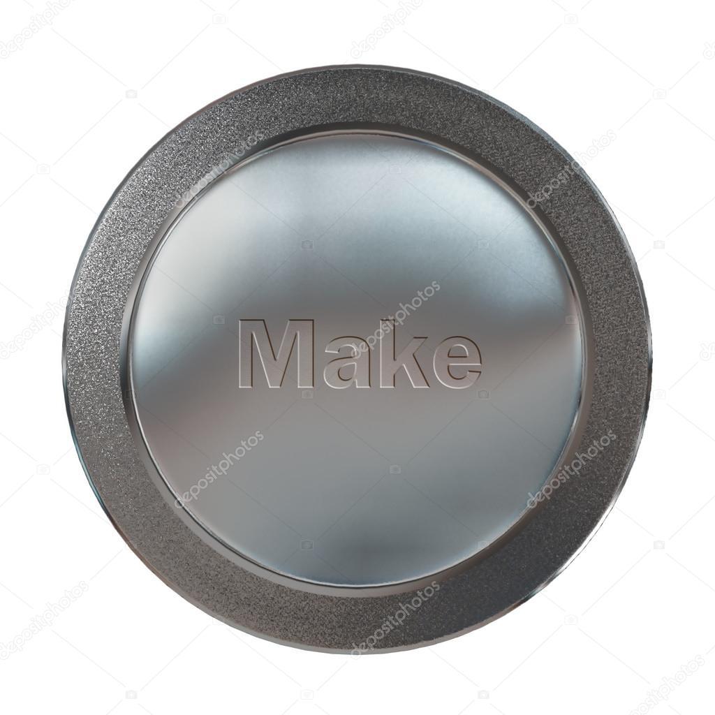 Platinum make medal — Stock Photo © realcg #82158468