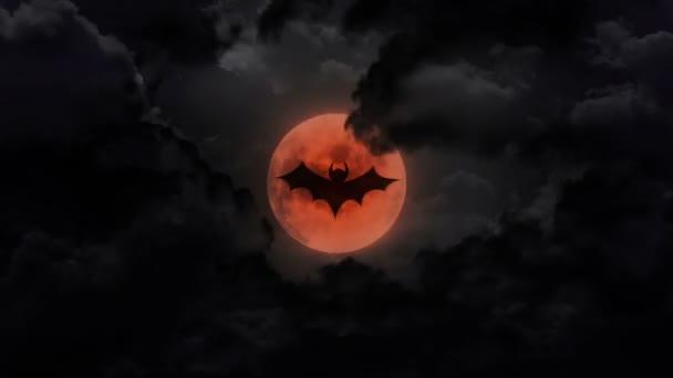 bat sötét nagy Hold és Mennydörgés