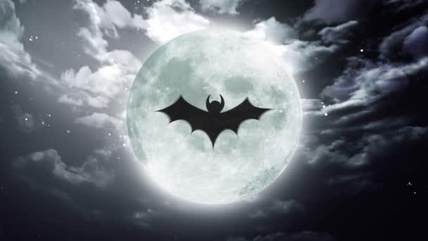 netopýr velký Halloween měsíc tmavá obloha