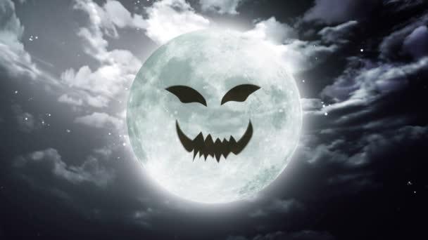 faccia di zucca cielo luna grande Halloween