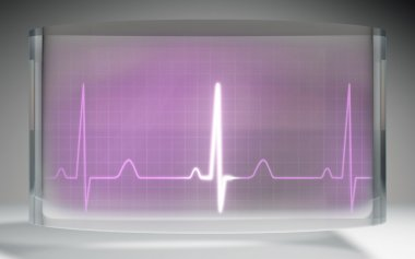 The futuristic liquid crystal display for EKG monitor medical theme stock vector