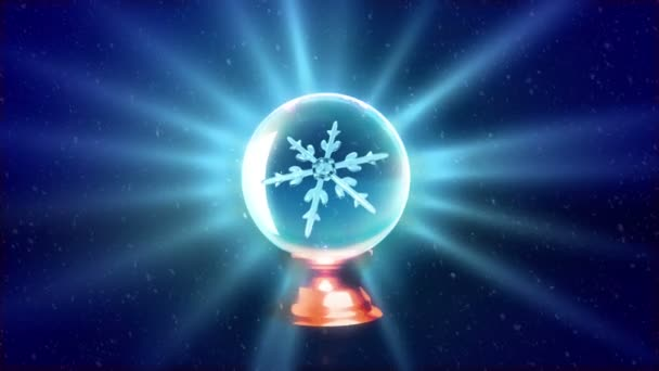 Vánoční vločky křišťálovou kouli modrý