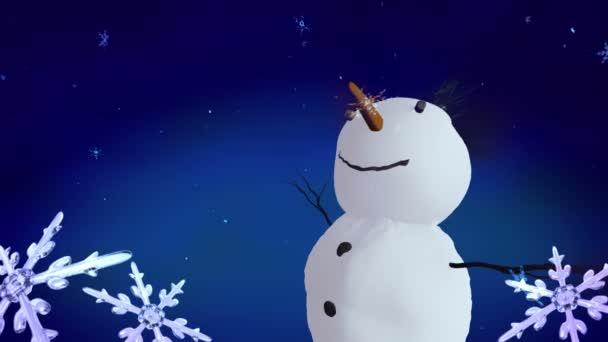 Sněhuláci a vánoční vločky