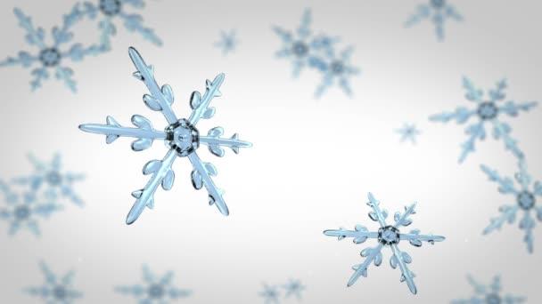 Fókuszban a háttér fehér hópelyhek