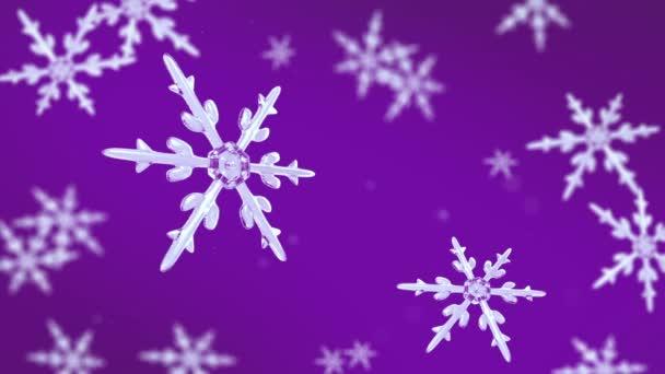 sněhové vločky zaměření pozadí fialová