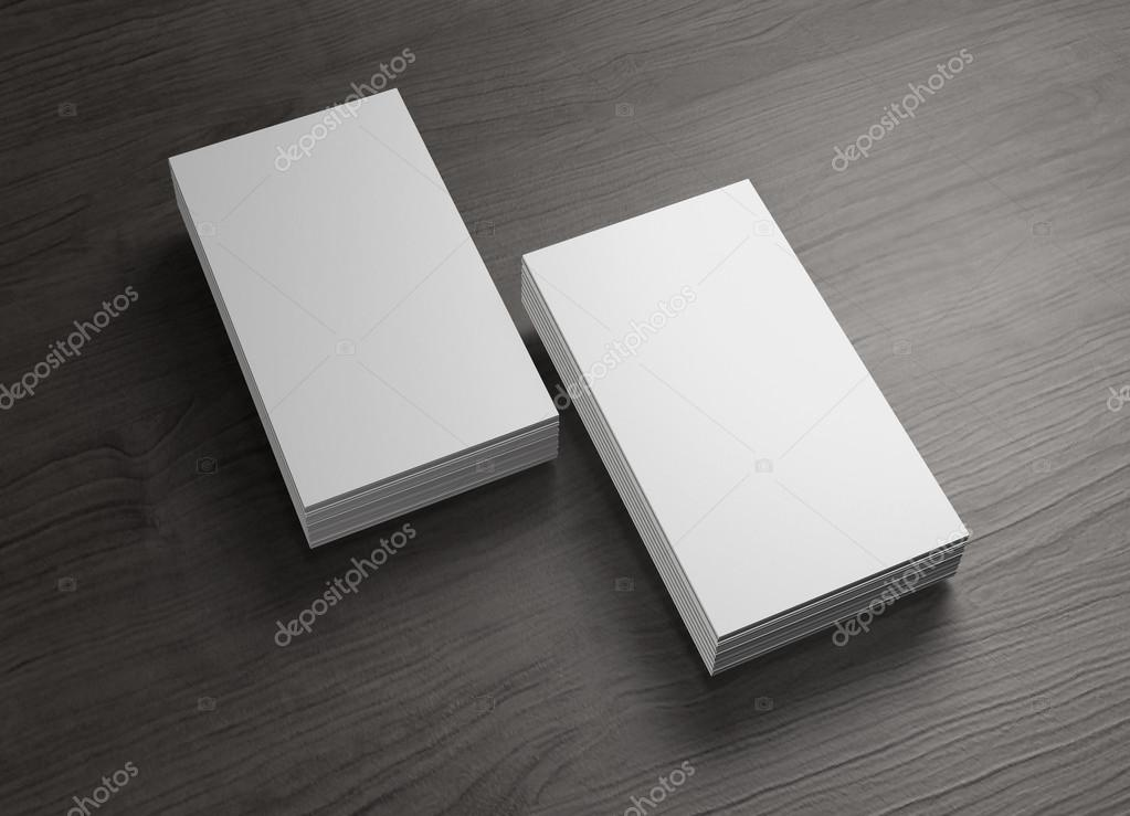 2 stack of chinese business cards of wood table — Stock Photo ...