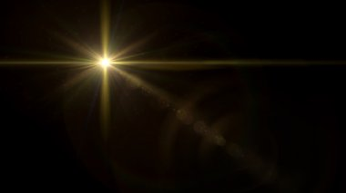 twinkle star cross lens flare gold