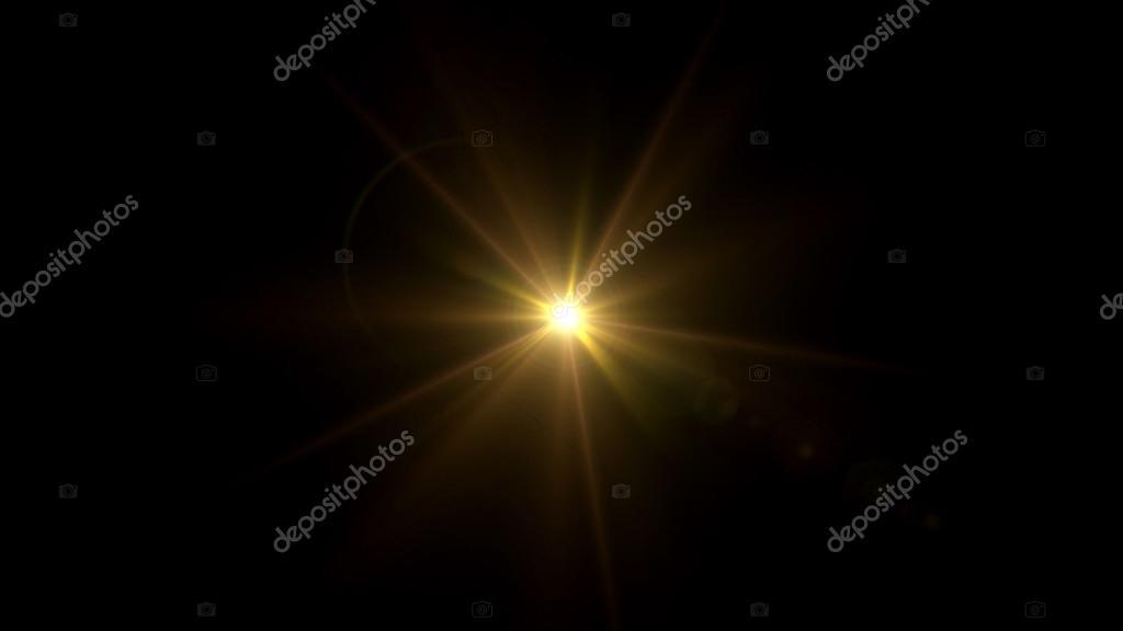 twinkle gold star lens flare center