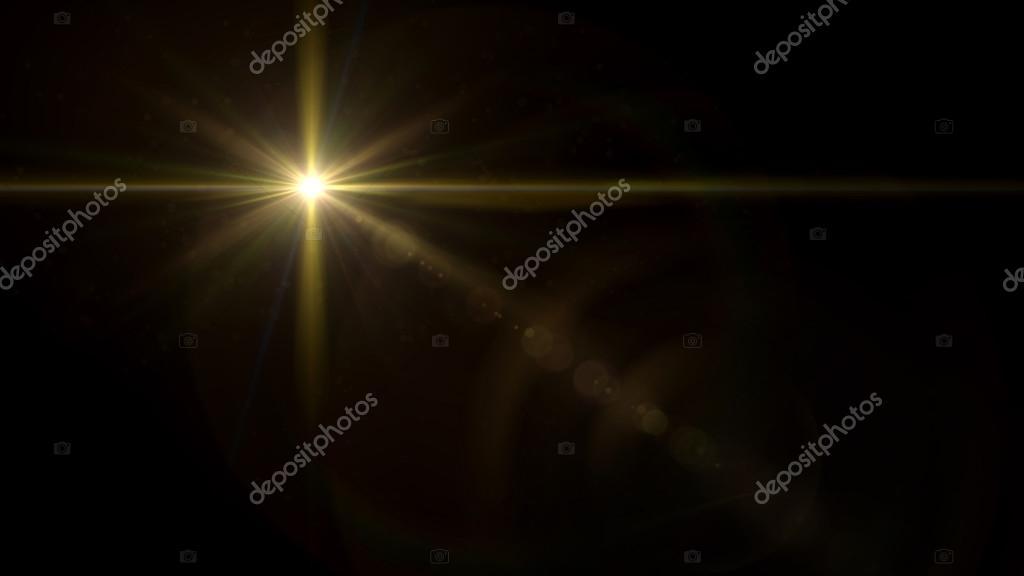 twinkle star cross lens flare gold