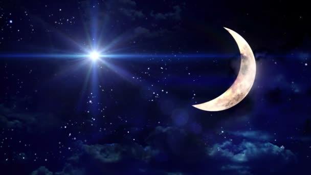 egyértelmű félhold kék csillag
