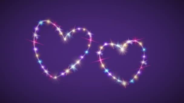 srdce barvou hvězdné pozadí