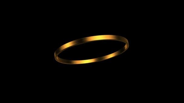 arany gyűrű forgása 45 fokos szögben Hd