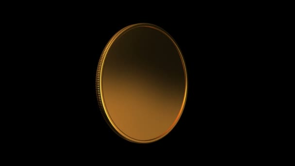 gold coin turning around HD