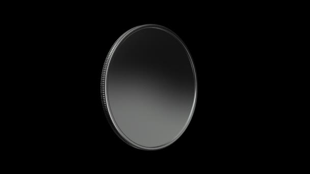 silver coin turning around HD