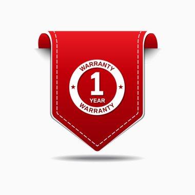 1 Year Warranty Icon Design