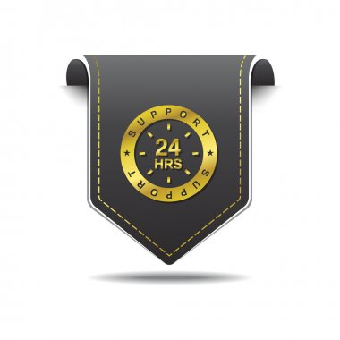 24 Hours Support Icon Design