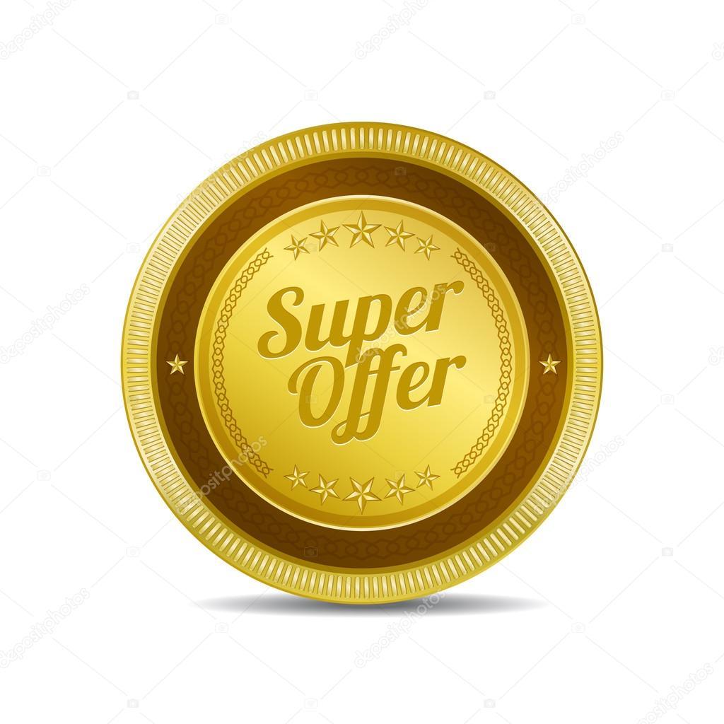 4d5e43b94771 Super nabídka ikony tlačítko — Stock Vektor © rizwanali3d  63402425
