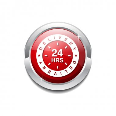 24 Hours Delivery Icon Button