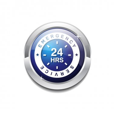 24 Hours Emergency Service Icon