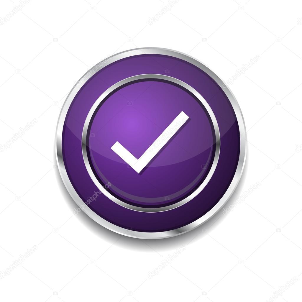 Botón De Icono De Marca De Tick Vector De Stock Rizwanali3d