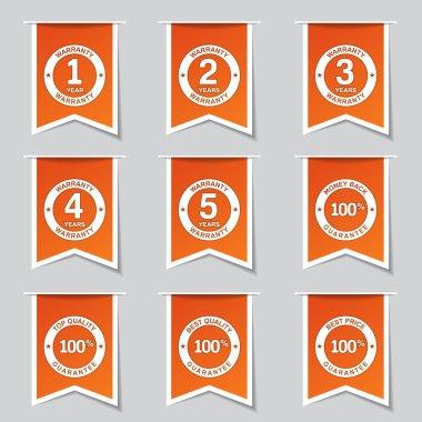 Warranty Guarantee Seal Icon Set
