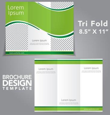 Tri Fold Brochure Vector Design stock vector