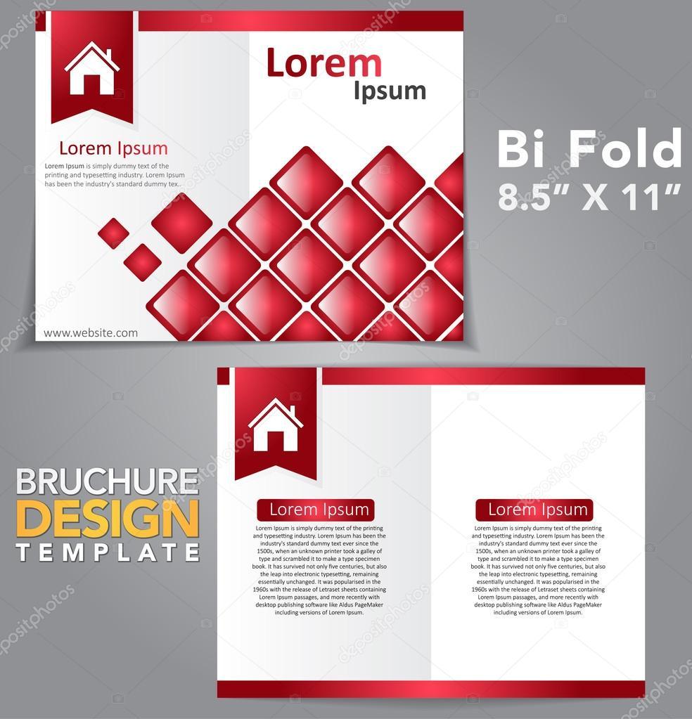 bi fold brochure design stock vector rizwanali3d 72027163