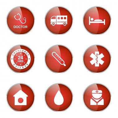 Hospital Health Icon Set