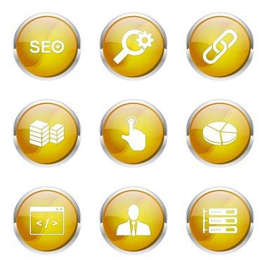 SEO Internet Sign Icon Design Set