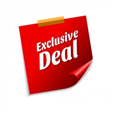 Exclusive Deal Red Sticky Notes