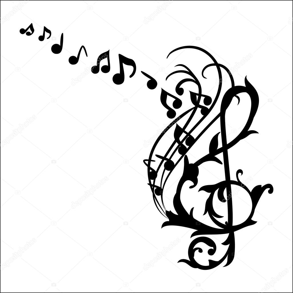 graphic relating to Printable Music Notes referred to as Printable musical notes Audio Notes Wall Decal Inventory