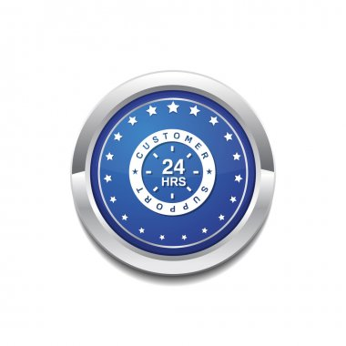 24 Hours Customer Support Icon