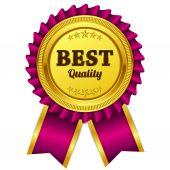Nejlepší kvalita růžových pečetí vektorové ikony