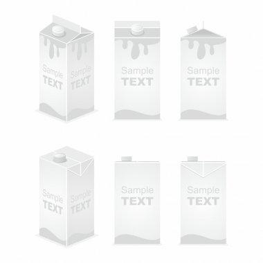 Carton milk or juice pack template
